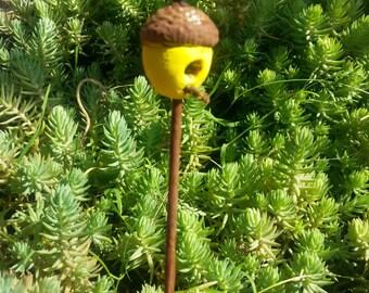 Fairy Acorn Bird House, Fairy Garden,Fairy Garden Accessory, Fairy Mini Decor, Fairy bird feeder