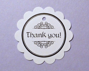 100 thank you tags gift tags price tags circle tags clothing hang tags round tags white tags merchandise tags product tags seller supplies