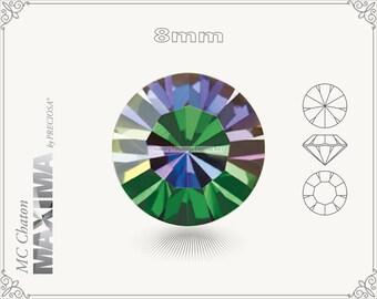 6 pc.+ SS39 (8mm) Preciosa MC Chaton MAXIMA - Crystal Vitrail Medium Color