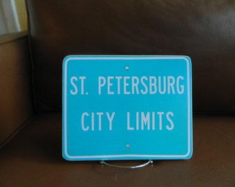 St. Petersburg City Limits Sign - Photo on Wood