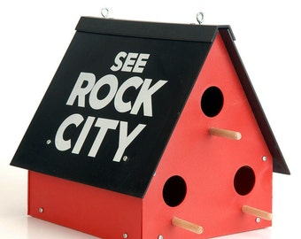 Authentic 'See Rock City' Birdhouse