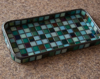Mosaic tray/ accessories holder