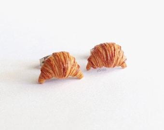 Miniature Croissant Earrings
