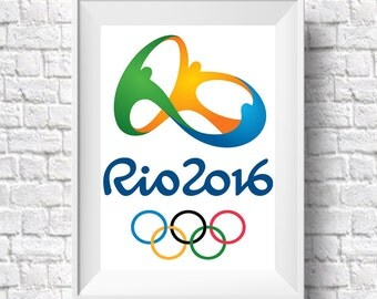 Rio Olympic Games Brazil Poster 2016 Olympics Art Print