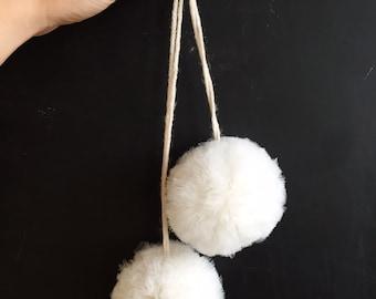 Tulle Pom Poms - set of 4 // blush pom poms // ivory pom poms // ballerina pom poms