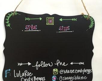 Lularoe Chalkboard Sign