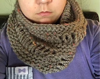 Speckled knit Cowl