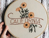 California - Poppy 9'' Hoop
