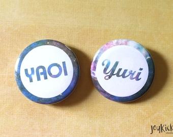 Yaoi and Yuri Buttons