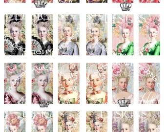 Marie Antoinette Domino Digi Sheet