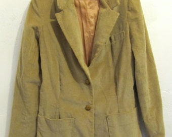 30 % Off SaLE@@A Women's Vintage 70's,Tan Colored CORDUROY Blazer By SEARS.9