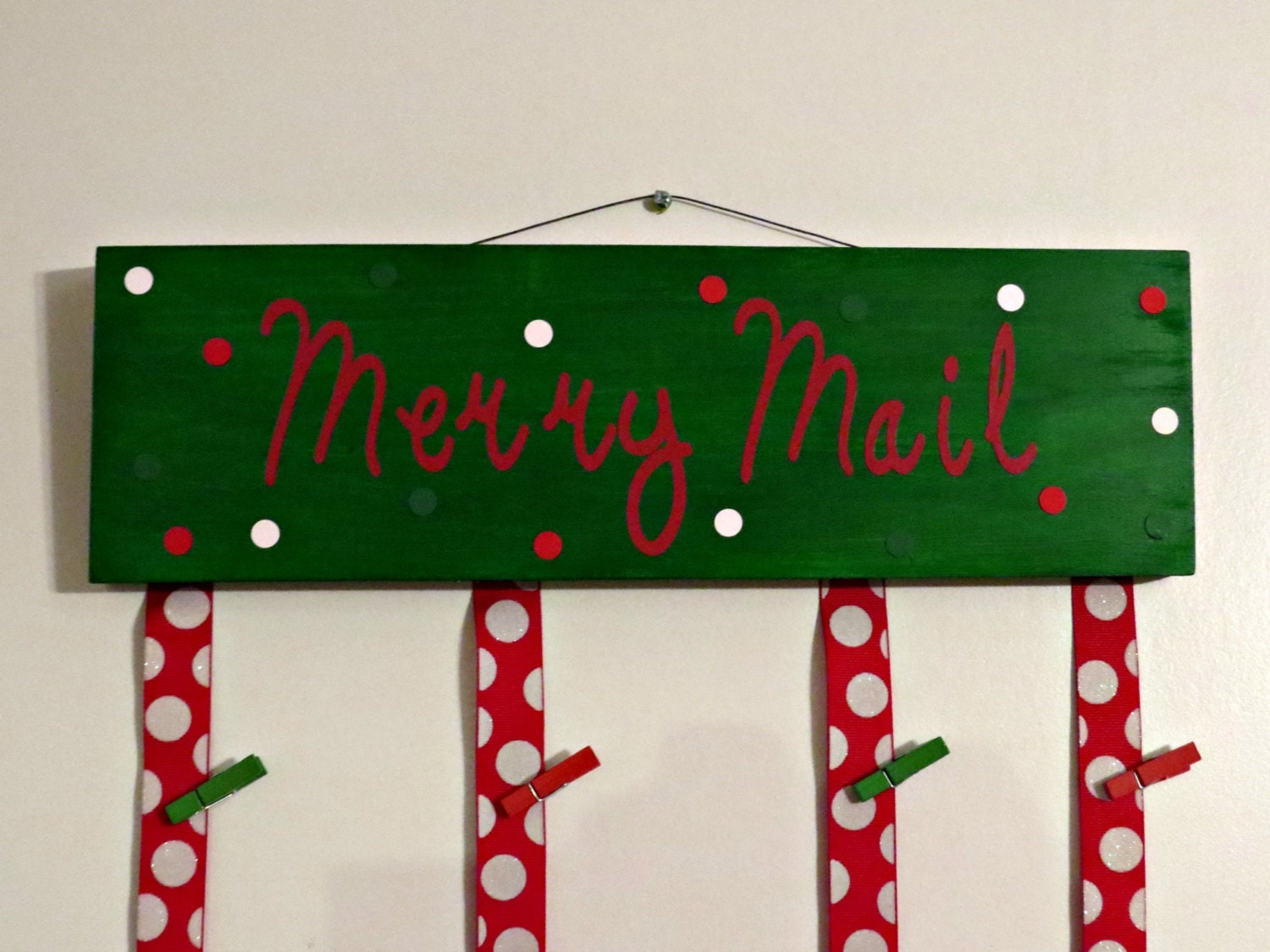 Merry Mail Christmas Card Holder Merry Mail Sign Christmas