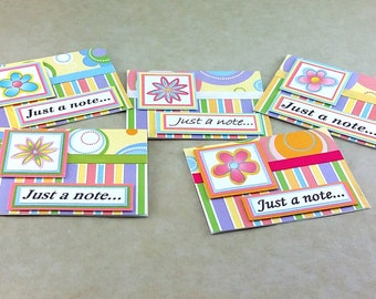 Flower Note Card, Any Occasion Notecard, Box Set Notecards, Handmade Notecard, Just A Note, One of a Kind Card, Blank Note Card, Blank Card