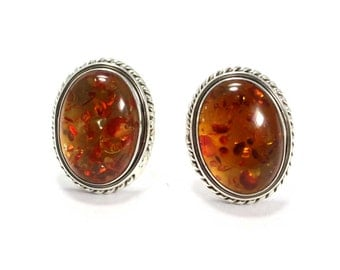 Amber Cufflinks 925 Sterling Silver Amber Handmade Mens Jewellery by AmoreIndia C337