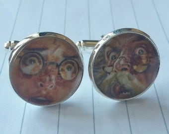 Harry Potter and the Half Blood Prince Cufflinks - Cover Artwork - Upcycled & Unique Comic Cufflinks
