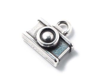 50pcs Camera Charm - Sterling Silver Charm - Silver Charm - Zamak Charm