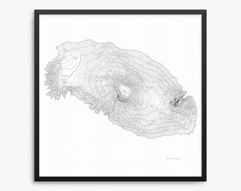 Kilimanjaro, Mount Kilimanjaro Poster, Mount Kilimanjaro, Mount Kilimanjaro Map Art, Mount Kilimanjaro Contour Map, Home Decor, Office Decor