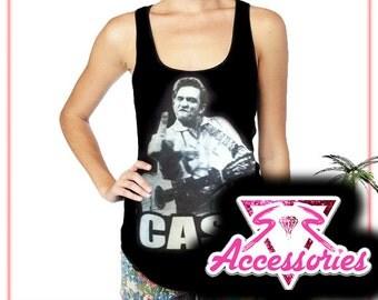 Johnny Cash Womens Tank Top/Tshirt