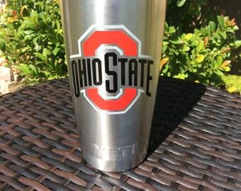 Ohio state yeti, Personalized Christmas gift ,RTIC tumbler, Office christmas gift, RTIC cup, personalized yeti, Custom Yeti, RTIC with decal