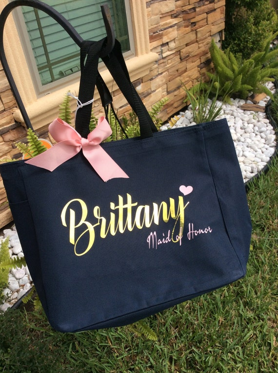 Wedding Gift Bag Stuffers : ... Gift Idea,Tote Bag Wedding, Bride Gift, Bridal Party Gift