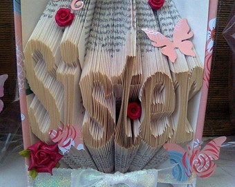 Sister Folded Book Art