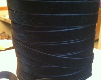 "Black velvet ribbon 5/8"" Only 75 cents per yard"