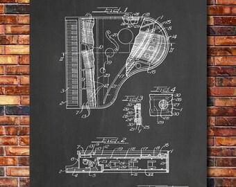 Grand Piano Patent Print Art 1928