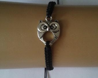 Owl bracelet - owl charm - owl jewelry - owl jewellery - nature jewelry - bird bracelet - bird jewellery - nature jewellery