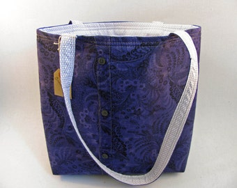 Purple Shirt Tote Bag