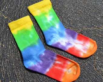 Free Shipping: Babies Tie Dye Rainbow Socks