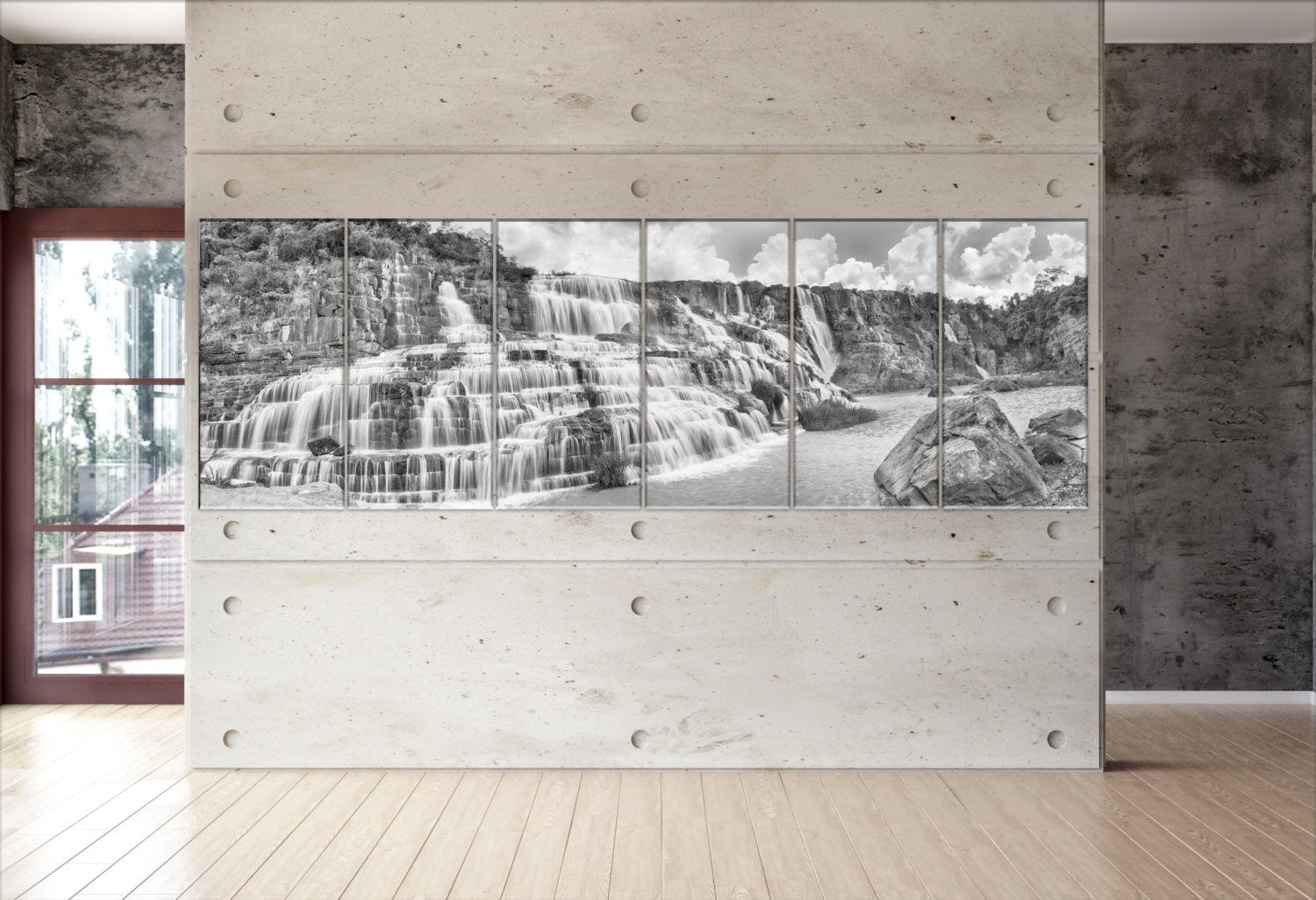 Large waterfall canvas large waterfall wall decoration large canvasconquest amipublicfo Choice Image