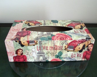Retro Paris design Tissue Box