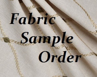 FABRIC SAMPLE ORDER
