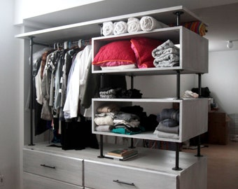 Industrial Pipe Clothing Storage Unit