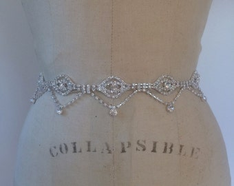 Bridal Belt-Bridal Sash-Bridesmaid Belt-Bridesmaid Sash-Art Deco Rhinestone Bridal Sash Belt-Beaded Wedding Sash-Rhinestone Wedding Belt