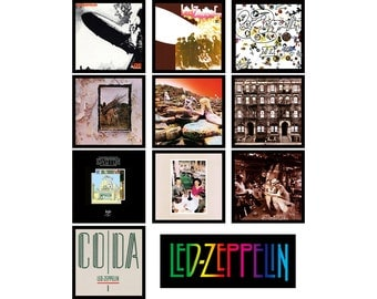 LED ZEPPELIN 11 pack of album cover discography magnets
