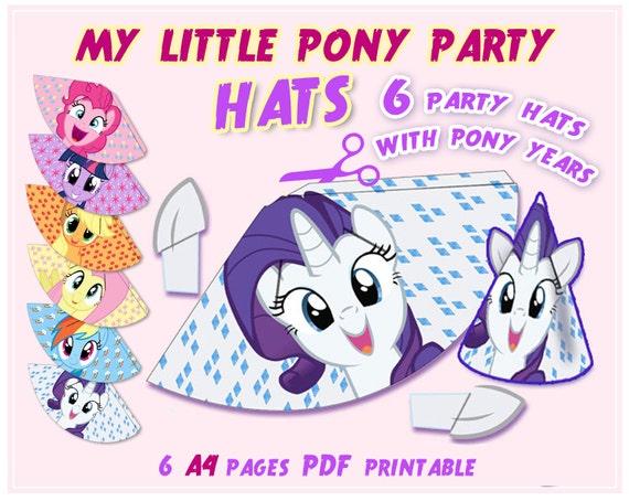 My Little Pony Party Hats Pony birthday Pony hat Party