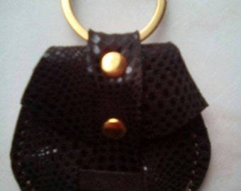 Keychain, door USB token wallet leather Leopard