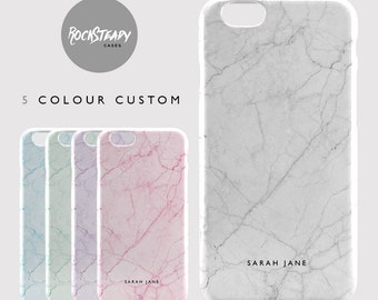 Custom Name Marble case, personalised iPhone 6s, 7 Plus, 5S, SE case, personalized samsung Galaxy S6, S7, S5, S4 phone cover,5C fashion gift