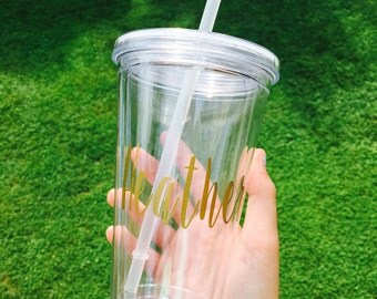 Name Decal Tumbler Cups!!