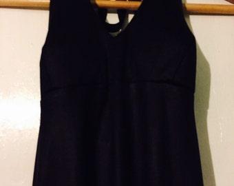 Floor length halter neck dress
