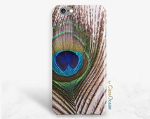 Peacock iPhone case, iPhone SE 5 5s 5c phone case iPhone 6 6s 6Plus phone cases, Samsung Galaxy S7 S6 S5 S4 S3 peacock feather phone case
