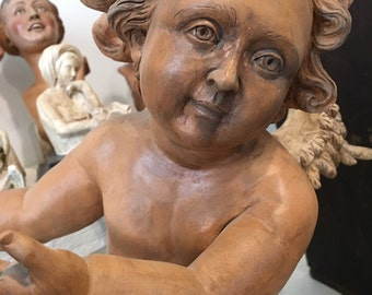 Terracotta Angel Cherub