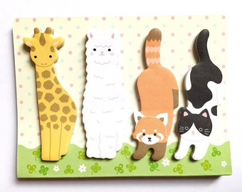 Amifa die-cut animal page flags - Style B
