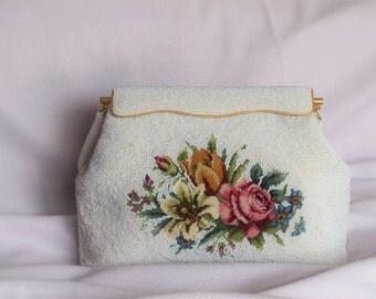 Wedding bag. Vintage bag purse. Evening beautiful clutch..