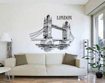 London Bridge Illustration Design Wall Decal