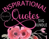 Bundled SVG QUOTES Inspirational 20 Sets Included, Bundle Sale, Motivational Sayings Cut Files for All Crafting Machines, Work Great on Wood