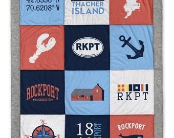 Rockport MA Destination Blanket