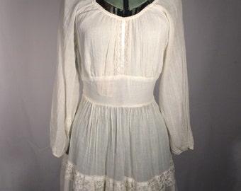 Sheer 1960s Hippie Mini Dress