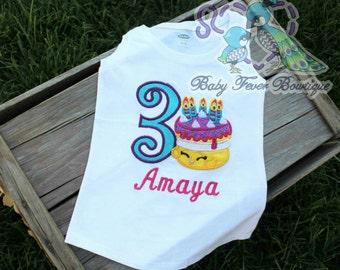 cute cake shop custom birthday shirt